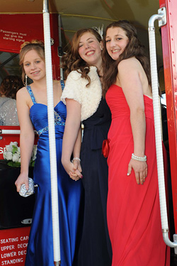 Red London Bus - Prom