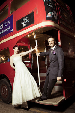 Red London Bus - Wedding