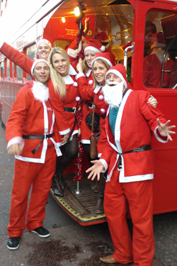 Red London Bus - Christmas